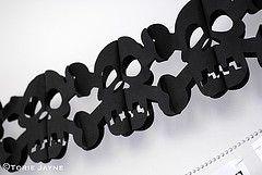 Skull & bones paper garland