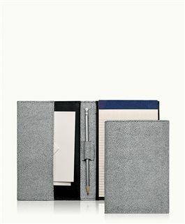 Small Portfolio, Whitestone Shagreen Leather