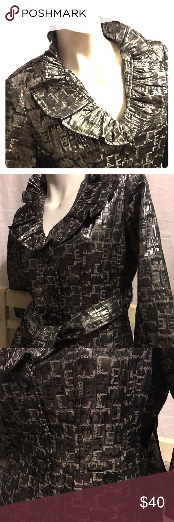 Silver Dressy Jacket So beautiful shimmery silver blazer with an 1/2 circle collar that accents your collarbone. Very sexy button up or over a delicate shell. Ruby Rd Jackets & Coats Blazers
