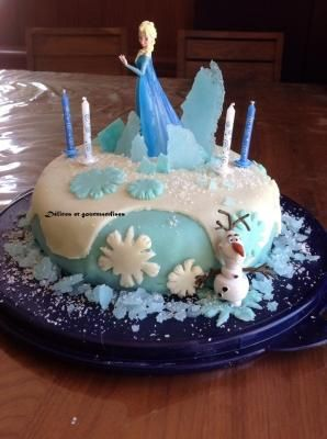 Gâteau reine des neiges gateau tutoriel pas à pas
