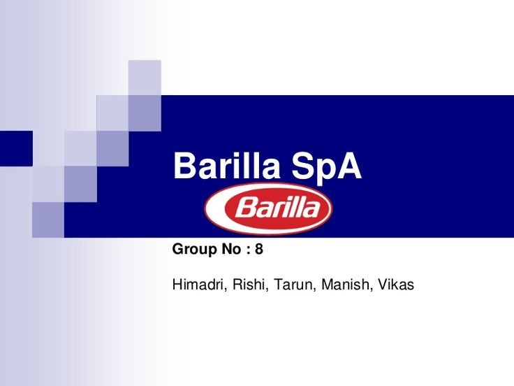 barilla-spa-a-case-on-supply-chain-integration by Himadri Singha via Slideshare