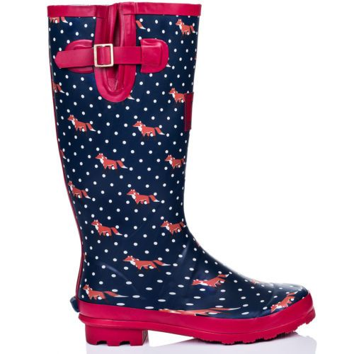 NEW-WOMENS-FLAT-FESTIVAL-WELLIES-WELLINGTON-RAIN-BOOTS-SIZE-3-8