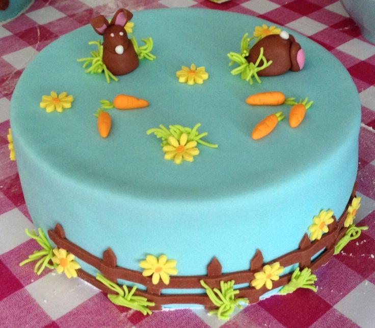 Easter bunny, cake, fondant, Paashaas, taart, taartje