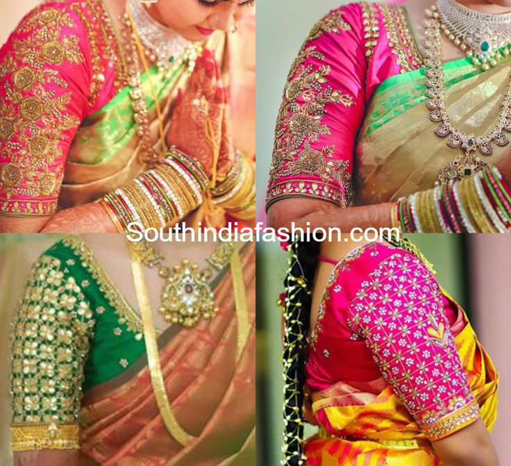Beautiful maggam work blouse designs embellished with zardosi, gota patti and kundan work to add grand look to your wedding silk sarees. Related PostsMaggam Work Designer BlouseBlouse Designs for Silk Sarees10 Gorgeous Maggam Work Blouse Designs by Shilpa ReddyBeautiful Wedding Saree Blouse