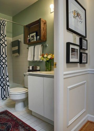 17 best ideas about crates on wall on pinterest shelves for Rental apartment bathroom ideas