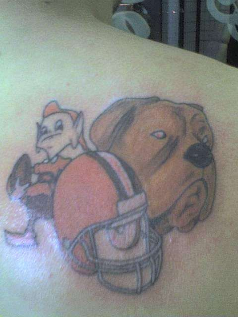 17 best images about cleveland browns tattoos on pinterest for Cleveland skyline tattoo