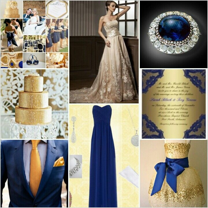Anastasia Romanov inspired wedding / navy & gold