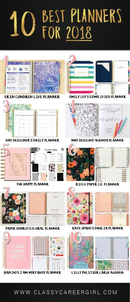 10 Best Planners of 2018 Organize Me Pinterest Best planners