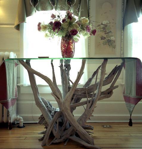 Driftwood Furniture and Art | Driftwood Furniture, Driftwood Tables, Driftwood Art ... | coastal li ...