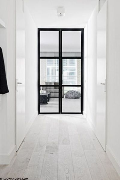 Maybe use a Crittal glass door in the hallway going into the kitchen?