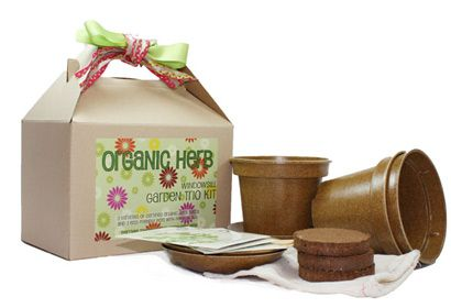 Teach your budding gardener how to raise her own herb garden with this Organic Herb Garden Trio . Each kit contains everything she needs – three eco-friendly natural pots and saucers made from rice hulls, compressed soil wafers, certified organic seeds, wood plant markers and instructions – to get a delicious mini garden going in about a week.