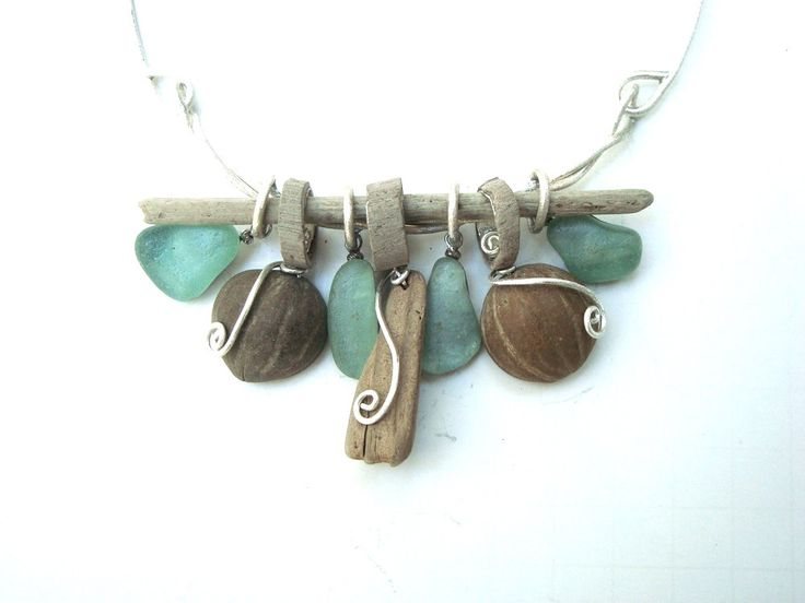 Driftwood and Sea Glass Necklace