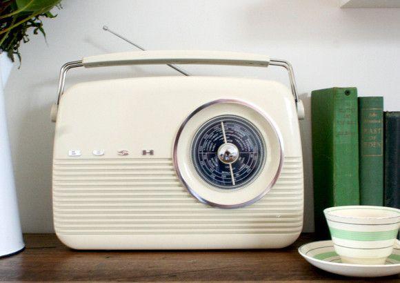 "Turning on the ""wireless"" - Bush Retro 1950's Style Digital Radio"