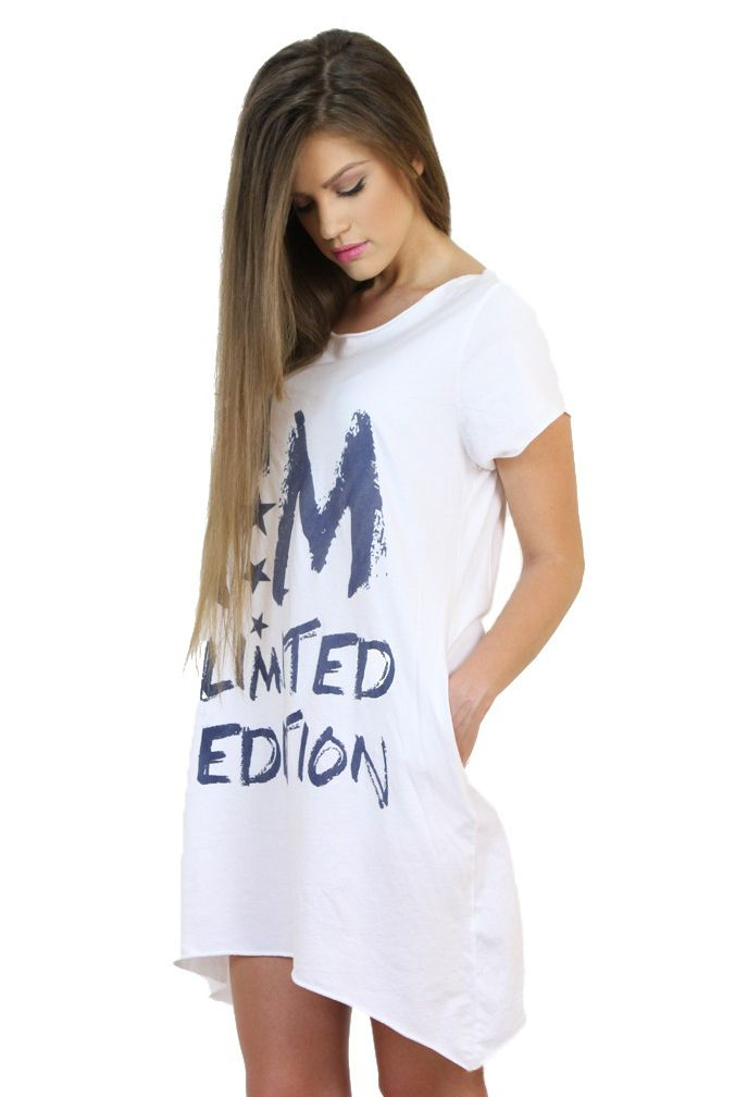 I'm Limited Edition White Dress...:) Available at http://famevogue.ro/haine_femei_85/rochii_86/rochie_sporty_im_limited_edition_37  #moda #shopping #dress #fashion #style