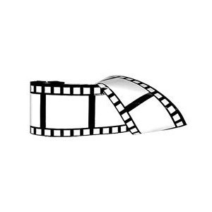 """50 Feet x 3"""" of weatherproof decorative filmstrip made of soft plastic. Use as party streamer or as wall bordering for home theater decor. $8.99"""