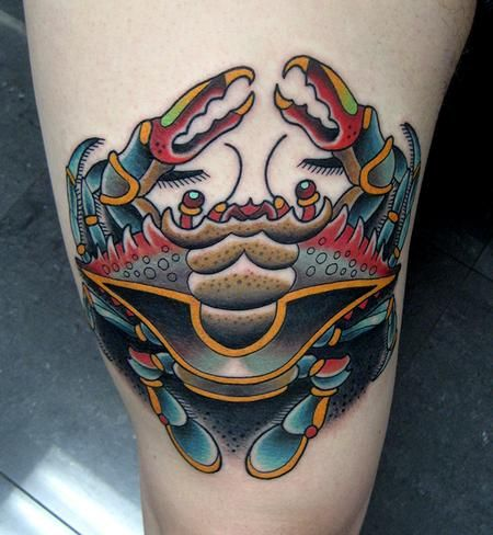 547 best old school tattoos images on pinterest for Blue crab tattoo
