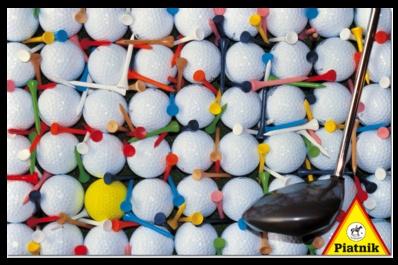 Bolas de golf. Puzzle de 1000 piezas de Piatnik.