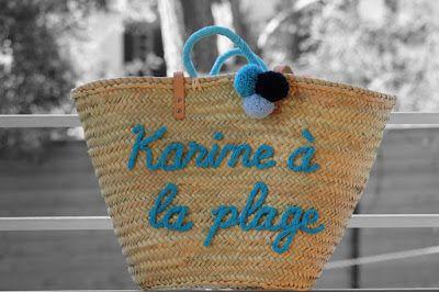 """L'atelier Des Petites Bauloises: Panier """"Karine à la plage""""                                                                                                                                                      Plus"""