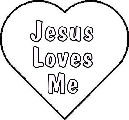 Jesus Loves Me Coloring Pages   Free Jesus Loves Me Template or Coloring Page