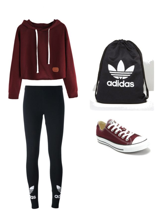 """School"" by maleja-castro-torres on Polyvore featuring moda, adidas Originals, Converse y adidas"