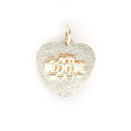 Be My Valentine Charm In 14k Yellow Gold, Charms for Bracelets and Necklaces