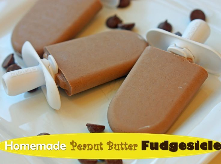 Only 4 ingredients and taste like a gourmet popsicle!  #homemadepopsicles #peanutbutter from Super Healthy Kids