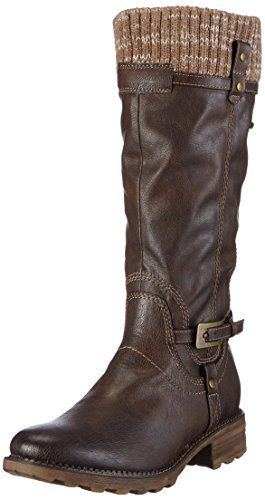 Tamaris 26606, Damen Langschaft Stiefel, Mehrfarbig (Cafe 361), 36 EU (3.5 Damen UK) - http://on-line-kaufen.de/tamaris/36-eu-tamaris-26606-damen-langschaft-stiefel-2