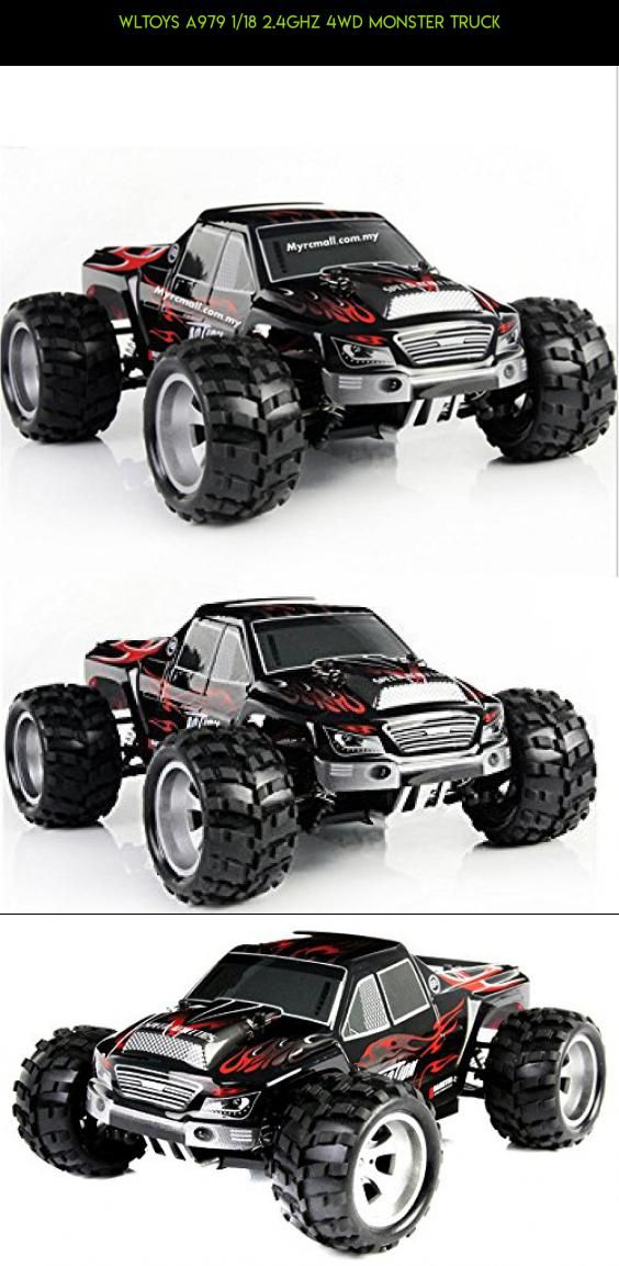 Wltoys A979 1/18 2.4GHz 4WD Monster Truck #tech #truck #racing #kit #fpv #parts #camera #gadgets #monster #drone #technology #shopping #products #wltoys #plans