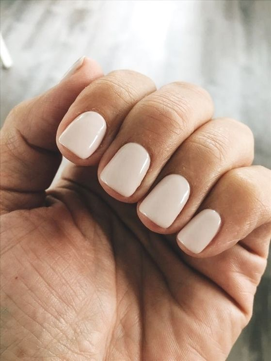 Love This Ivory Nail Polish Color And I Would Literally Want To Have My Nails Look Like All The Time Beauty Style Nailpolishideas