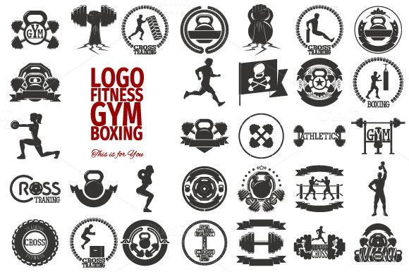 31 LOGO FITNESS / GYM / RUNNING by ToheyVector on Creative Market