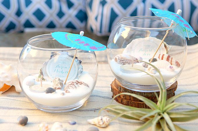 Beach Wedding Tea Light Centerpieces Recipe Diy Beach Wedding Beach Wedding Centerpieces Diy Beach Centerpieces