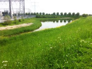 Embedding a high voltage transformerstation (Simonshaven) in the landscape, design by Vollmer & Partners
