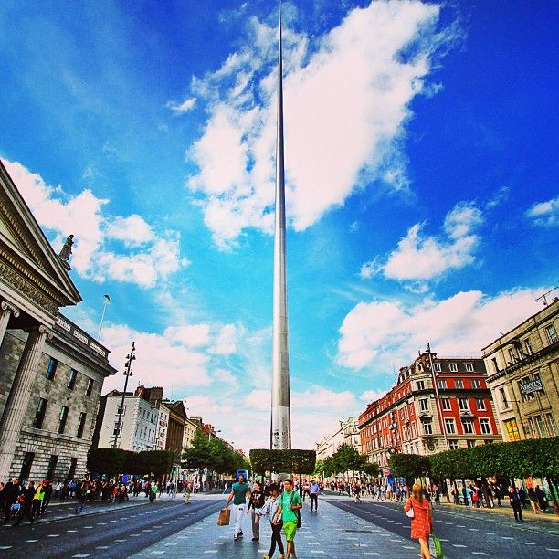 A landmark on O'Connell Street, it's ridiculously tall and impossible to miss.  Worth a picture or two!