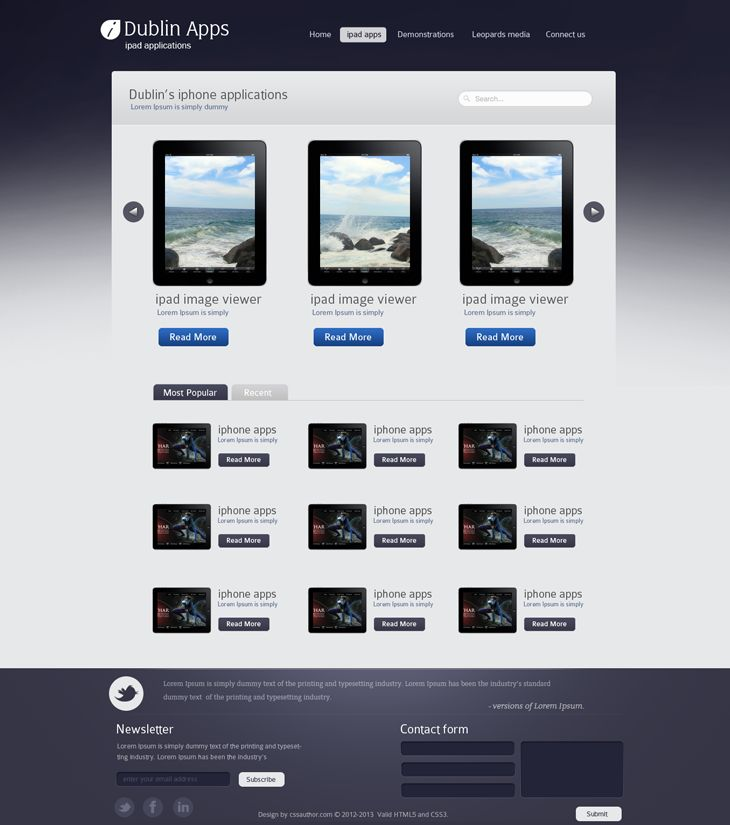 Dublin iPad Apps – Product Page