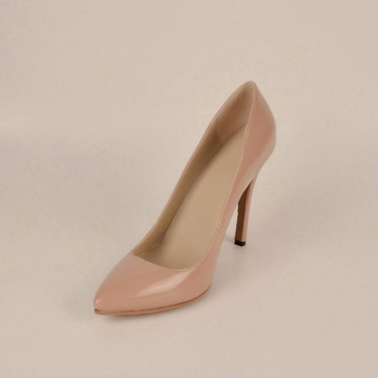 Ню Розовые Туфли Женщина Насосы Тонкие Высокие Каблуки 2015 Новый Стиль Указал Закрытый Мыс Ручной Лакированной Кожи обувь На Заказ