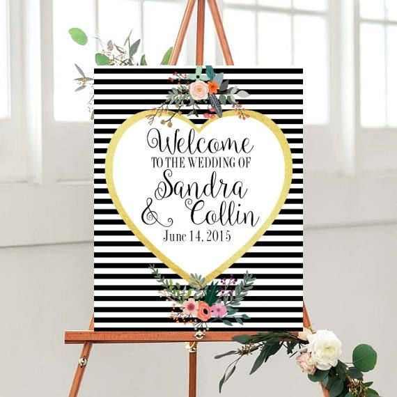 Wedding Welcome Sign Printable Welcome to Our Wedding Sign