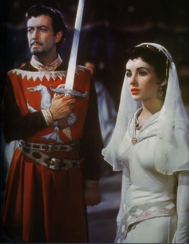 """Elizabeth Taylor & Robert Taylor - """"Ivanhoe"""" (1952) - Costume designer : Roger Furse"""