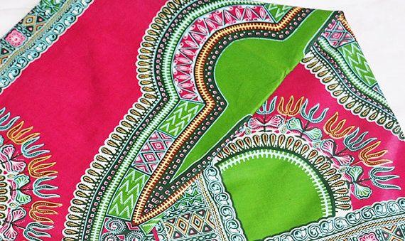 Dashiki 6 yards whole sale dashiki fabric Pink dashiki