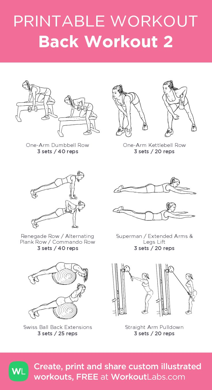 Back Workout 2–my custom exercise plan created at WorkoutLabs.com • Click through to download as a printable workout PDF #customworkout
