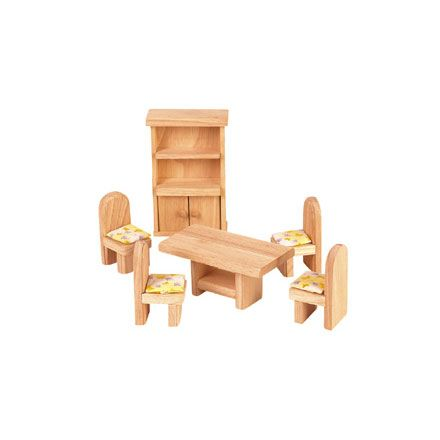 Plan Toys Classic Collection Of Wooden Dollhouse Furniture Allows Children  To Decorate Their Doll House While Developing The Imagination.