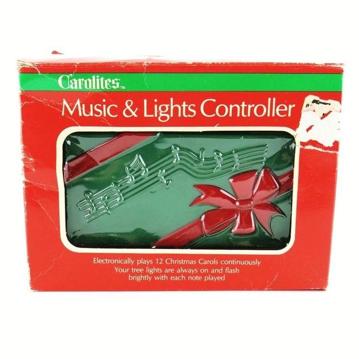 Vintage Carolites Music & Lights Controller Syncs12 Xmas Songs w Lights #100-C #Carolites