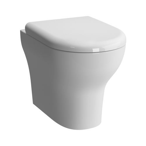 Zentrum Back-To-Wall Toilet & Seat - £178 Width355mm Height400mm Projection 520mm