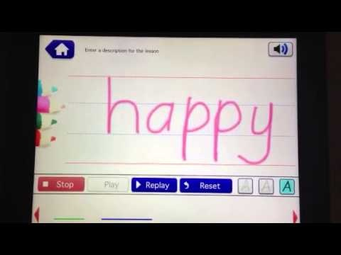 Looking for an app that will allow kids to practive writing WITHOUT tracing? Here you go! School Writing will do it! Thanks to developer Paul R. Collins for an amazing quick response! Writing words without tracing over letters. - YouTube