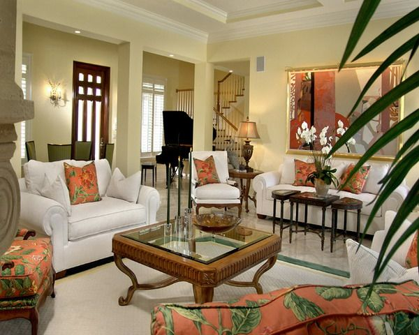 16 best Tropical decor images on Pinterest Dining room, Tropical - tropical living room furniture