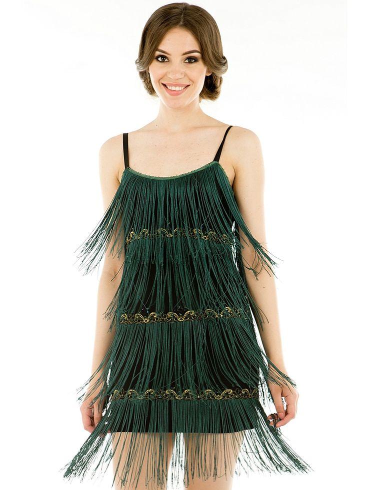 Платье Levall. Цвет темно-зеленый.