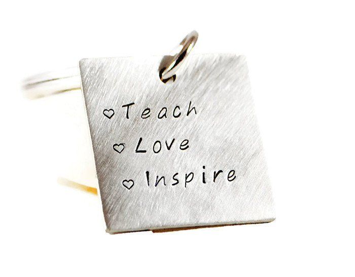 Teach Love Inspire Personalized Keychain.