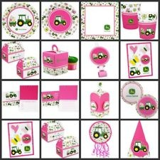 PINK JOHN DEERE Girl Birthday PARTY SUPPLIES - Choose Your Own Set Kit First 1st