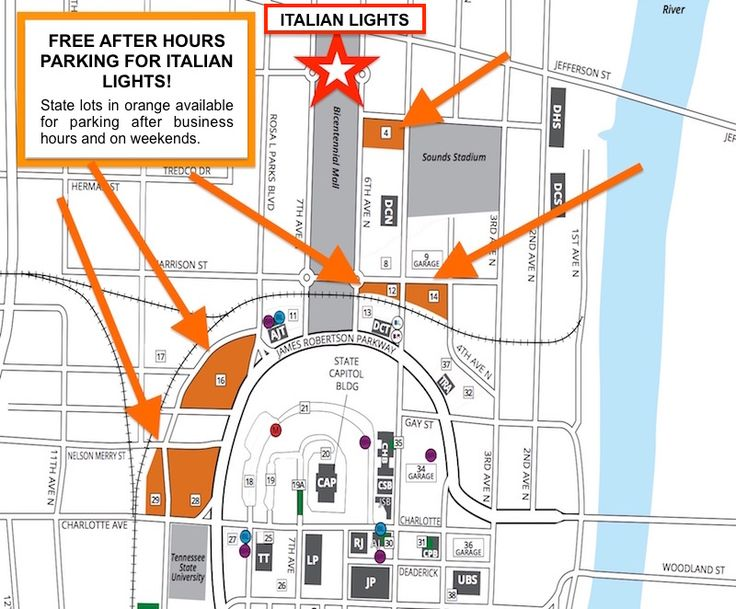 Parking Maps Festival For The Italian Lights In Nashville Tennessee