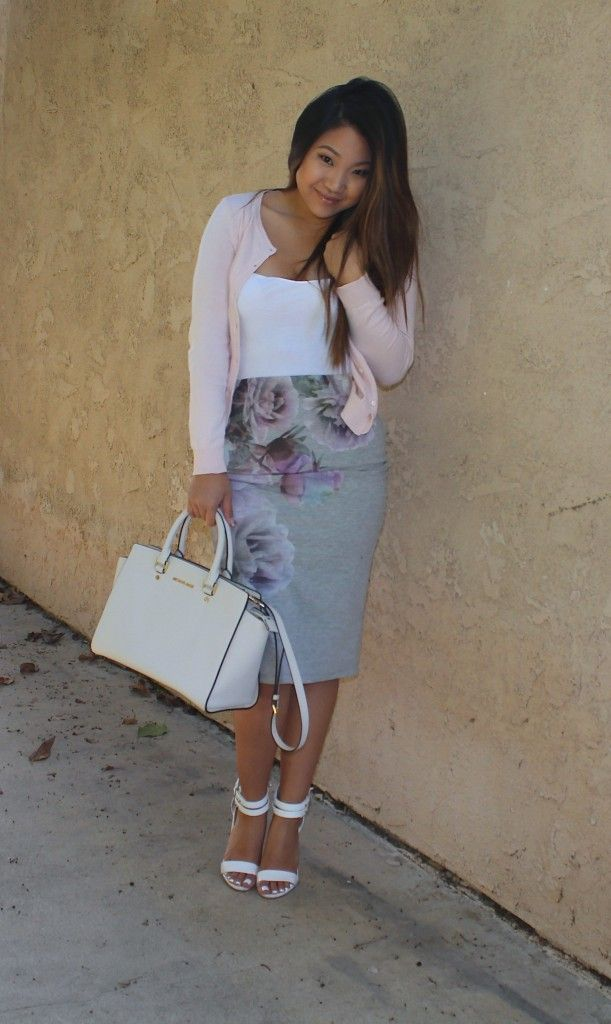 Cascading Floral Pencil Skirt. Modest Clothing | Modest Outfits | Modest Fashion Blog | church | outfit |ootd | modest | modesty | ysa | lds | mormon |modestishottest | targetstyle| church outfit | sexy modest | ootd | fashion blogger | style blogger | Sunday Best