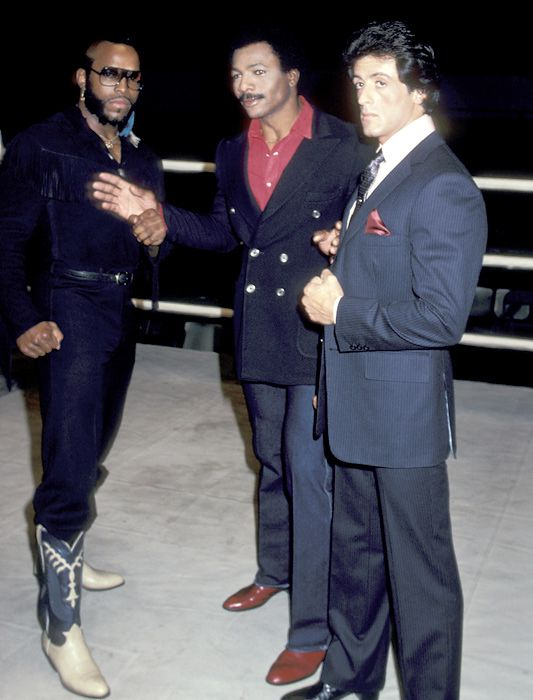 Mr T, Carl Weathers & Sylvester Stallone
